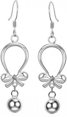 Joyra Alluring Swarovski Zirconia Sterling Silver Hoop Earring
