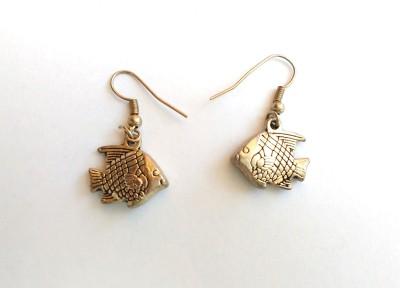 SrinidhiHandiCreations Fish Metal Dangle Earring