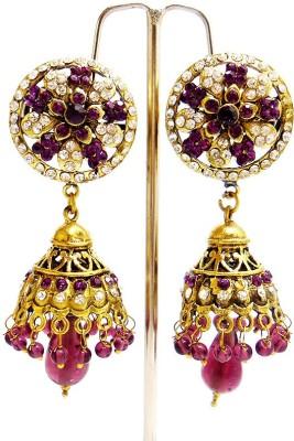 MK Jewellers VICTORIA ETHNIC EARRINGS Brass Jhumki Earring