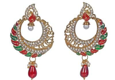 My Design Meenakari Alloy Drop Earring