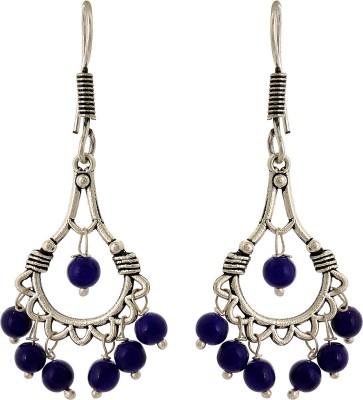 Subharpit Abstract Shape Desinger Beads Metal Dangle Earring