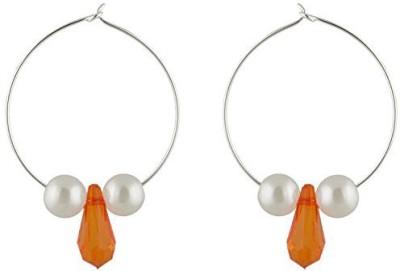 TrinketsANDTreasures Orange Alloy Hoop Earring