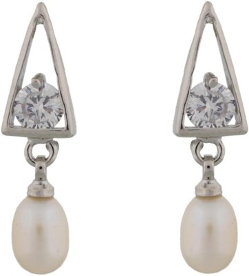 Classique Designer Jewellery Triangle Shape Pearl Alloy Drop Earring