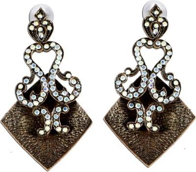 The Fine World Vintage Copper Zircon Metal Drop Earring