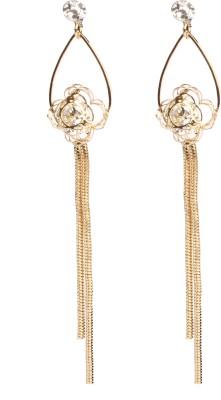 Divitha Allure Divitha Allure hanging floral golden. Alloy Drop Earring