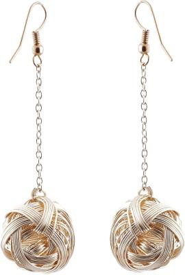 Avrom Gold Celtic Ball Brass, Copper Dangle Earring