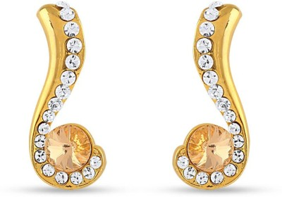 Rich Lady RICH LADY Gold Sparklers Alloy Drop Earring Brass, Stone Tunnel Earring