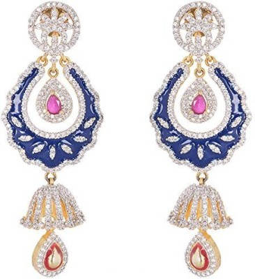 Vanshika Jewels Beautiful Party Wear In AD Alloy Dangle Earring