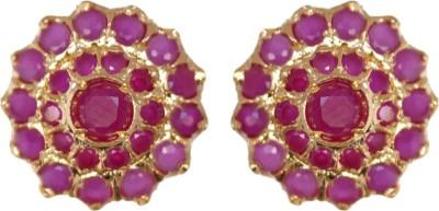 Janki Jewellers Modern Flower Cubic Zirconia Alloy Stud Earring