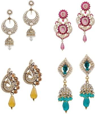 Buyclues RCCJ3413 Crystal Brass Earring Set