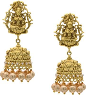 Hyderabad Jewels Beautiful Onyx Copper Jhumki Earring