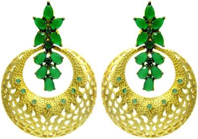 Peora Floral Cutout Brass Drop Earring
