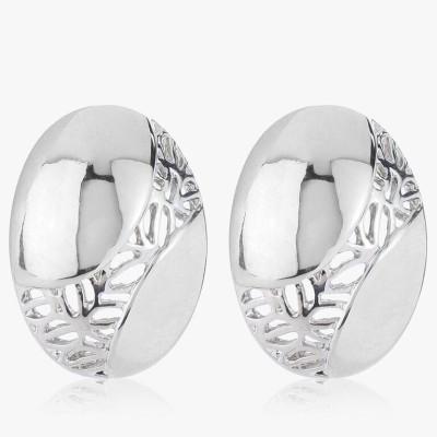 Shamoda Classic Oval Metal Stud Earring