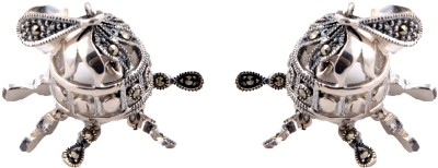 Aashirwad Oxodise Markasite Silver Jhumki Earring