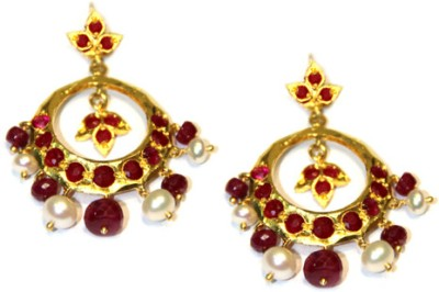 Amarsons Pearls Chand Bali Alloy Chandbali Earring