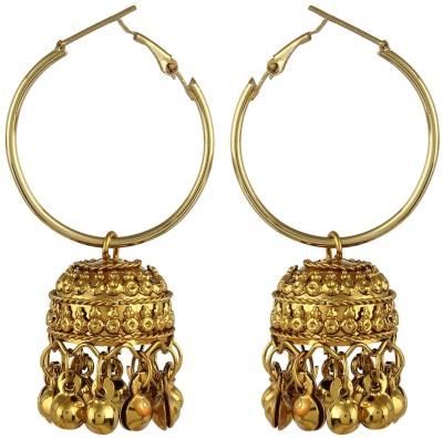 CTW Antique Oxidised Alloy Hoop Earring