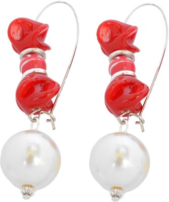 Foppish Mart Eye Soothing Pearly Beads Ceramic Drop Earring