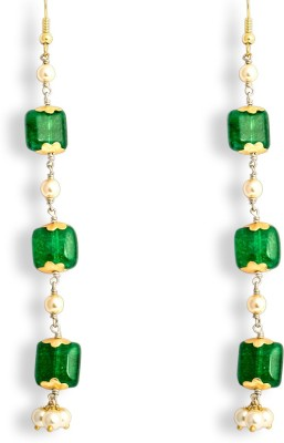 Ijuels Fashion Spring Sparkle Pearl, Cubic Zirconia Alloy, Brass Dangle Earring