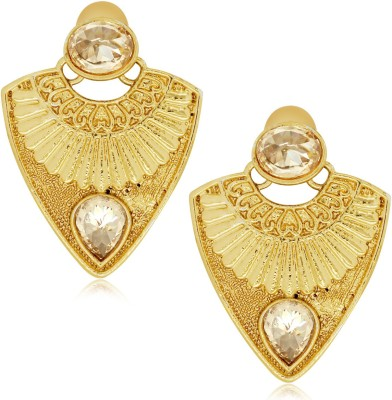 Spargz Geometric Studded with AD Stone Alloy Drop Earring