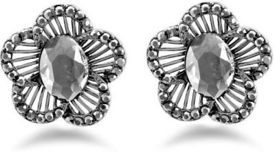 Jazz Jewellery Fancy Design Earrings For Women's In Flower Shape with Stone Alloy Drop Earring