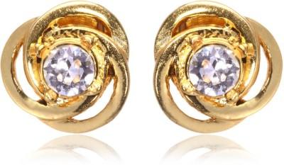 Eclat 713135G Swarovski Crystal Alloy, Brass Stud Earring