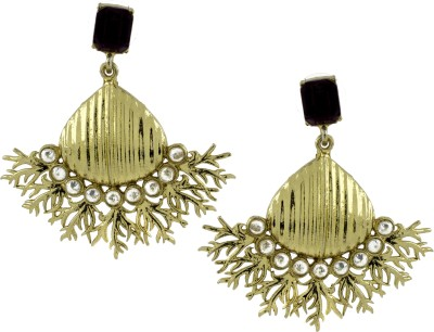 the jewelbox Wild Flower Cubic Zirconia Brass Drop Earring