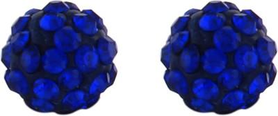 Numaish Ball Crystal Alloy Stud Earring