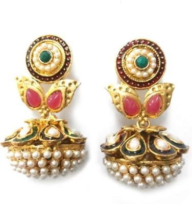 Aarnaa Rajasthani Gold Plated Alloy Drop Earring