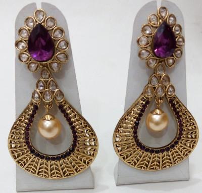 Womaniya purple gold beauty Alloy Chandelier Earring