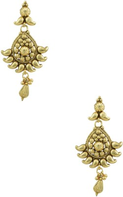 Orniza Gold Earrings in Golden Color and Golden Polish Brass Dangle Earring