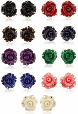 Nisa Pearls Ceramic Earring Set