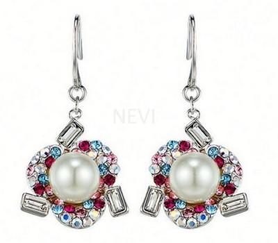 Nevi Flower Swarovski Crystal Alloy Dangle Earring