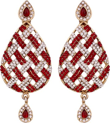 Vendee Fashion Sstone studded statement Alloy Drop Earring