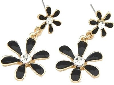 Amour Elegant Floral Crystal Alloy Drop Earring