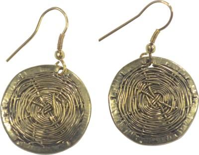 MPCI Round Brass Dangle Earring