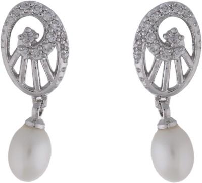 Jewel Planet Stylish Pearl Alloy Drop Earring