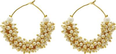 Ishaani Love Forever Pearl Brass Chandbali Earring