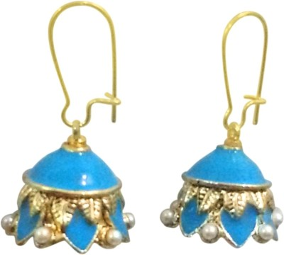 Deco Junction Ethnic Blue colour Small Jhumki Alloy Jhumki Earring