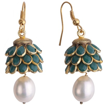 DD Pearls Traditional Pearl Alloy Dangle Earring