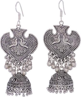 Silvery Dangler Jhoomkis Copper Jhumki Earring