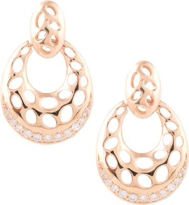 Beautiart Rose Gold Cubic Zirconia Alloy Drop Earring