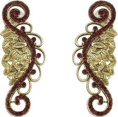 The Fine World Studded Filigree Zircon Metal Stud Earring