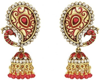 Saashis Closet Enchanting Alloy Jhumki Earring