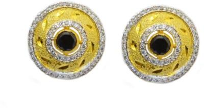 Dilan Jewels Golden Black Tops Zircon Silver Stud Earring