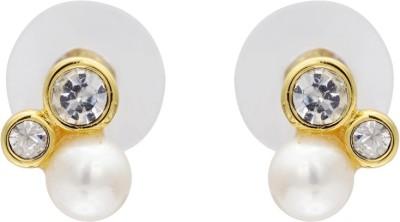 Krishna Pearls & Jewellers Princess Delight Pearl Alloy Stud Earring