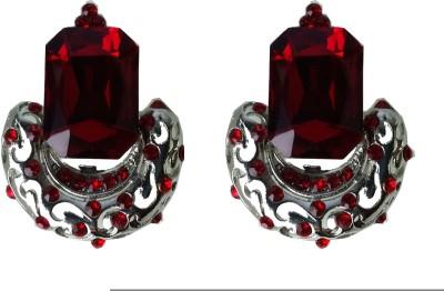 Modish Look Red Princess Brass Drop Earring