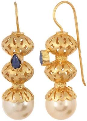 Aarohee Blue Elegance Pearl Sterling Silver Dangle Earring