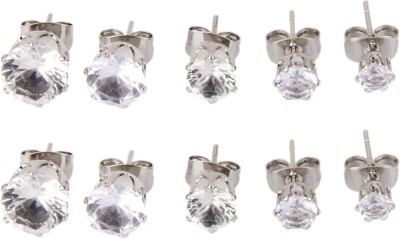 Magideal Round Shape Stainless Steel Plug Earring