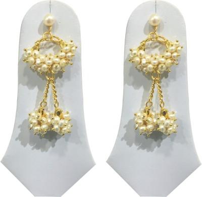 Sri Kapi Pearls FE145 Pearl Alloy Dangle Earring