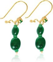 Surat Diamond Magical Feelings Emerald, Malachite Metal Clip-on Earring